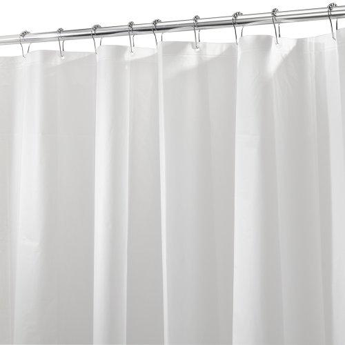 iDesign 3.0 Liner Futter für Duschvorhang, 180,0 cm x 200,0 cm großer Vorhang aus schimmelresistentem PEVA mit zwölf Ösen, matt