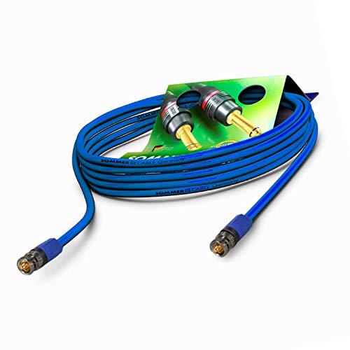 Sommer Cable 10m 6G 3G SDI Video-Patchkabel 4K UHD HD-SDI (HDTV) SC-Vector 0.8/3.7 1 x 0,80 mm² blau - BNC Stecker NEUTRIK - VTGX-1000-BL-BL