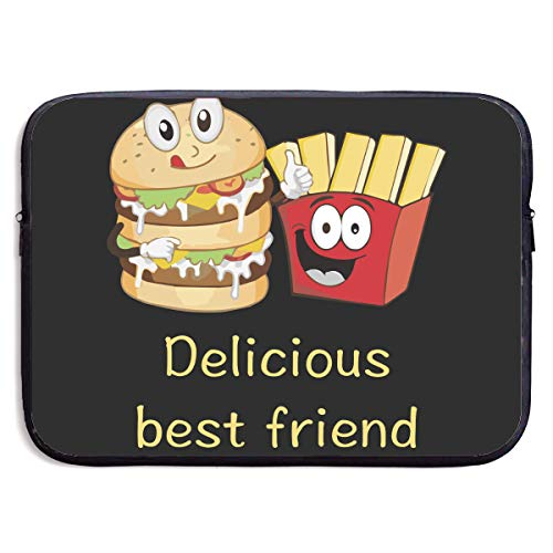 Laptop Sleeve Case Delicious Burger Chips Best Friends Protective Bag for 13 Inch Surface Laptop/Notebook/Acer/Asus/Dell/Lenovo/iPad/Surface Book