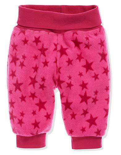 Schnizler Unisex Baby Hose Fleece Pumphose Babyhose Sterne mit Strickbund, Oeko-Tex Standard 100, Rosa (Pink 18), 80