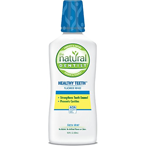 The Natural Dentist Healthy Teeth Anti-Cavity Fluoride Rinse Fresh Mint 16.90 oz (Pack of 2)