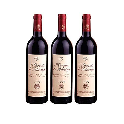 Vino Tinto Marques de Polavieja Crianza de 75 cl - D.O. Ribera del Duero - Bodegas Williams & Humbert (Pack de 3 botellas)