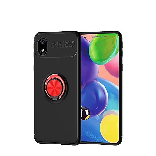 Carcasa de telefono Para Samsung Galaxy A01 Case Core, para Samsung Galaxy M01 Case Case Soft TPU Caja de TPU giratorio Metal Anillo Magnético Kickstand DISIPACIÓN DE CALOR DISTRIBA DE CAÍDA PROTECTIV