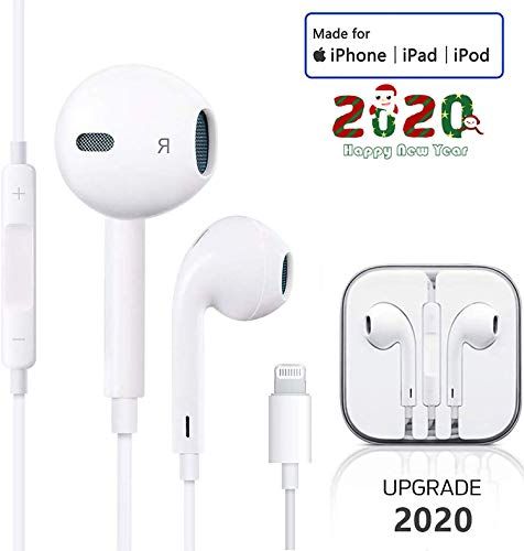Lighting Earphones For iPhone Earbuds in-Ear Wired Headphone Headest...