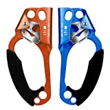 CroSight Hand Ascender Rock Climbing Tree Arborist Rappelling Gear Equipment for 8-13MM Rope 5KN Load CE Certified (Left Hand&Right Hand)