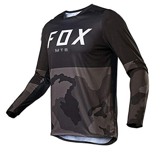 Yutich Herren Downhill Trikots Hpit Fox Mountainbike MTB Shirts Offroad DH Motorrad Trikot Motocross Sportwear BekleidungBike-S