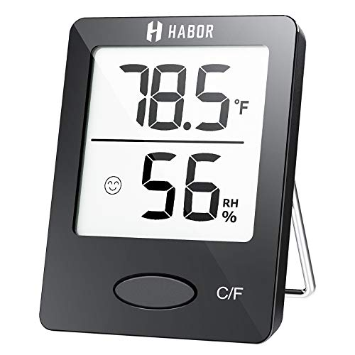 Habor Hygrometer Indoor Thermometer, Humidity Gauge Room Thermometer Indoor, Accurate Mini Wall...