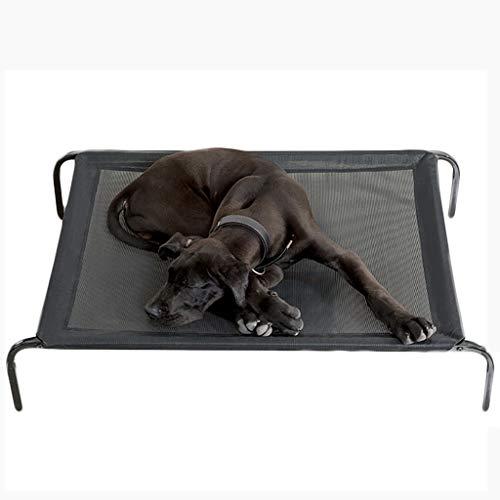 LTLJX Elevated Dog Bed Steel Frame, Chew-Proof Pet Cot Camping Trampoline Suspended Raised Hammock Best for Portable in/Out Door Use Cooling Platform,1026921cm