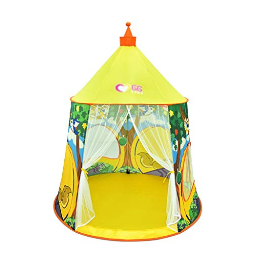 CSQ Indoor Conical Tent, Children's Interesting Animal Patterned Tent House Early Education Tent Outdoor Parent-child Game Tent Children's play house (Size : 125 * 137CM)