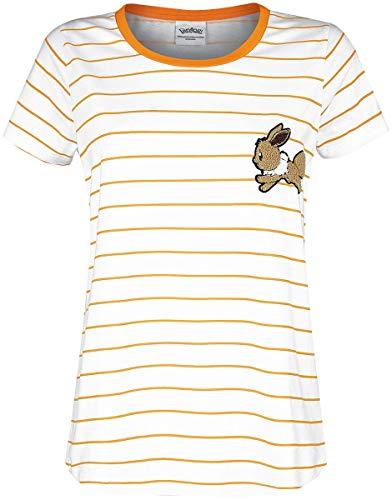 Pokémon Evoli Frauen T-Shirt weiß/orange XXL