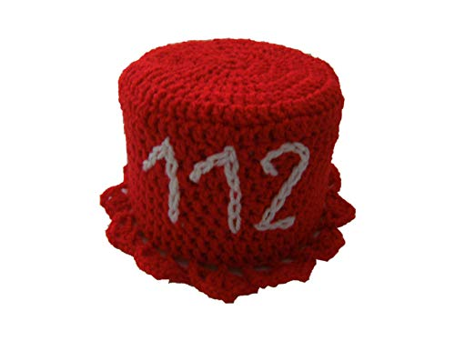 Storchenlädchen Klohut, rot, Feuerwehr 112 Klohüte Klopapierhut Klopapierhüte Toilettenpapierhut Toilettenpapierhüte