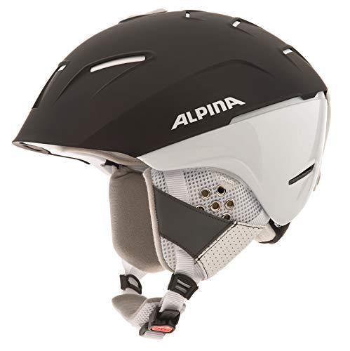 Alpina Sports Unisex– Erwachsene CHEOS SL Skihelme, Black-White, 55-59
