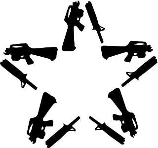 Crazydecals Anti Guns Flag Star Vinyl Decal Sticker- 6