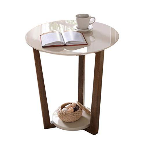 Koffietafels, dubbele laag eenvoudige hoekbank bijzettafel moderne woonkamer hoek mobiele kleine ronde telefoon tafel meubilair multi-functie