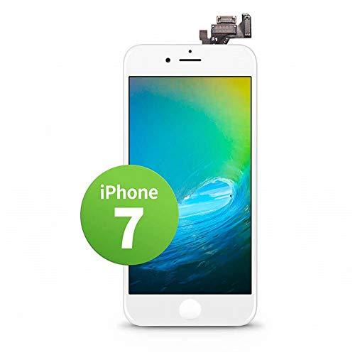 GIGA Fixxoo kompatibel mit iPhone 7 LCD Touchscreen Retina Display Ersatz in Weiß für Einfache Reparatur, FaceTime Kamera (Kein Set)