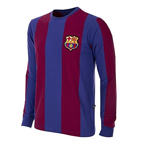 Copa Camiseta de fútbol Retro del FC Barcelona 1973-74 para Hombre, Hombre, 724, Azul/Rojo, L