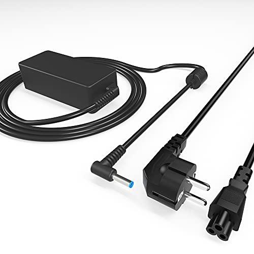 Cargador HP Portatil, Cable Corriente Portatil HP 45W 19.5V 2.31A, La Interfaz de Alimentación Adopta un Diseño Curvo, Adecuado para HP Pavilion/Stream/Envy/Pro/Split, con Cable de alimentación de CA
