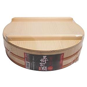 立花容器 寿司桶 36cm フタ付 約7合 (直径36×12.1cm)