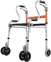 Lightweight Travel Walker, Fold Walkers with Seat, Ultra Mobility Aid Four Wheel, Drive Medical Rollator Walking Frame Adj...