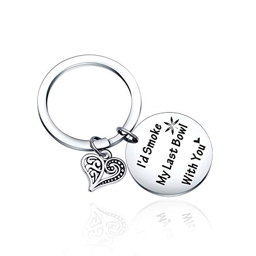 Best Friend Keychain Sister Key Chain Inspirational Keychain for Long Distance Friendship Gifts Sister Gift BFF Best Friend Gifts Mantra Quote keychain Friendship keychain BFF keychain (Leaf Keyring)