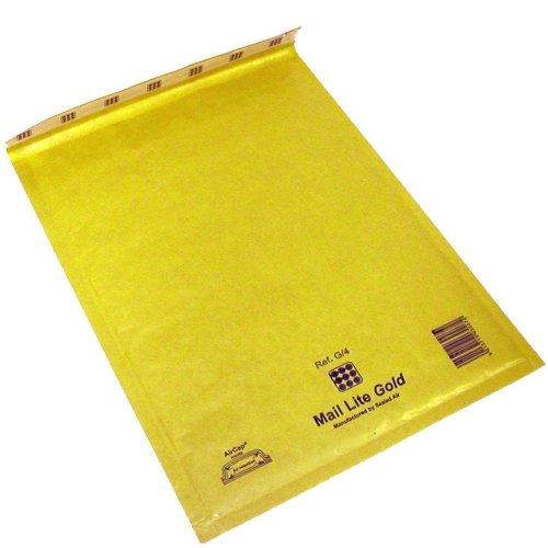 IMBALLAGGI 2000 - Buste Postali Imbottite Mail Lite Gold - Buste Spedizione Imbottite - Ideali per Spedire e Proteggere Oggetti - 11x16cm - (200)