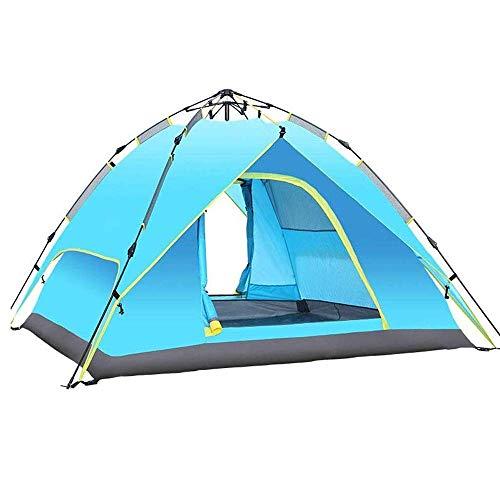 NDYD Tienda de campaña de Doble Capa de 3-4 Personas, Mochila de Equipos al Aire Libre a Prueba de Lluvia a Prueba de Lluvia para la reunión Familiar, 215x215x145cm DSB