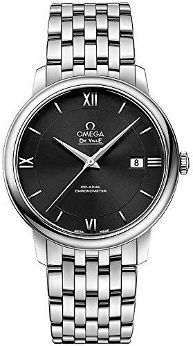 Omega De Ville Prestige 424.10.40.20.01.001 - Reloj de Pulsera para Hombre, Esfera Negra, Color Negro