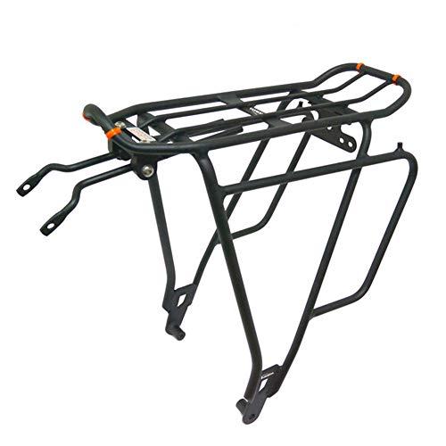 JMYSD Portabultos Trasero para Bicicleta Portaequipajes Ajustable para Bicicleta Portaequipajes con Reflector Portabrocas De Ciclismo De Liberación Rápida Negro