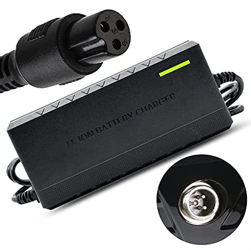 joyvio Cargador de Corriente de 42 V 2 A con Conector en línea PowerFast de 3 Clavijas (Compatible con 36 V 2 A) para Pocket Mod Sports Mod y Dirt Quad Adapter