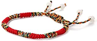 TazNha Handmade Woven Lucky Adjustable Bracelet Tibetan Love Lucky String Bracelets for Women Men Jewelry