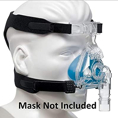 UNIVERSAL CPAP HEADGEAR STRAP for ResMed Cpap Masks & Respironics Cpap Masks - CPAP Supplies Straps compatible w/most masks - No Leaks,Tight Seal,Perfect Fit = Max Comfort (MASK, CLIPS NOT INCLUDED)