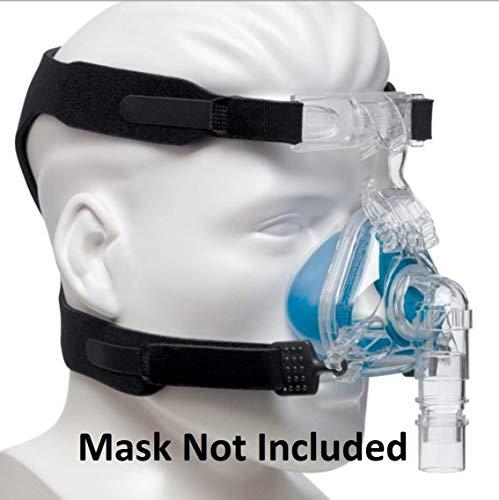 Universal Kopfbedeckung (Headgear) für CPAP-Masken ersetzt Resmed & Respironics – 4 Point Anschluss CPAP Kopfband kompatibel mit den meisten Nasal und Face Schlafapnoe Masken (Maske nicht enthalten)