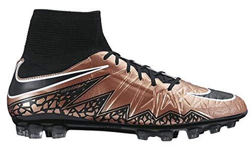 Nike Hypervenom Phatal II DF AG-R, Botas de fútbol para Hombre, Dorado/Negro/Blanco (Mtlc Rd Brnz/Blk-Grn GLW-White), 46 EU