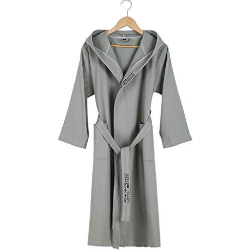 HXGpajamas Albornoz Mujeres Hombres Unisex Bata con Capucha Microfibra Suave Suave Coy Fleece, Chal Toalla Envoltura De Baño Cómodo (Color : A, Size : Medium)