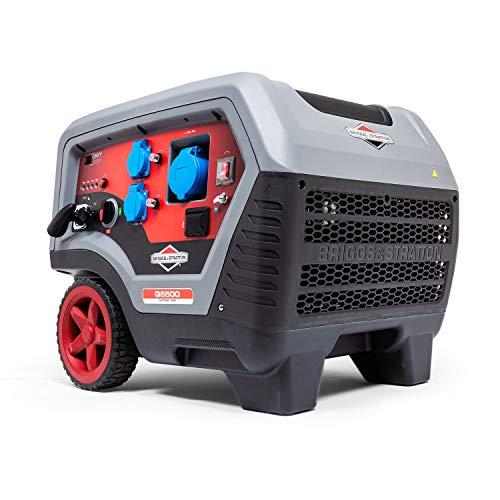 Briggs & Stratton Tragbarer Benzin-Inverter-Generator der Quiet Power Technology Serie Q6500 mit 6500 Watt/5000 Watt sauberem Strom, ultraleise und leichtgewichtig