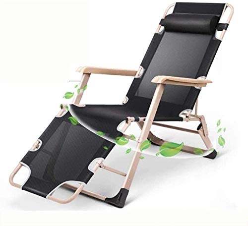 Reclinabile pieghevole, Chaise longue regolabile chaise, con poggiatesta bracciolestigliato zero parrucchino sedia reclinabile sedia reclinabile setola posteriore letto letto giardino sedia giardino p