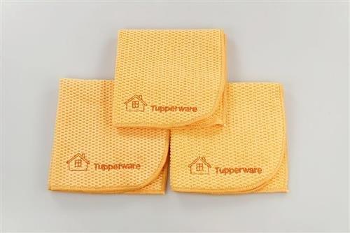 TUPPERWARE FaserPro Multi orange (3) Mikrofasertuch abgerundet Allzweck P 22692