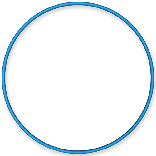 NiroSport Hula Hoop Reifen Aluminium Gymnastikreifen Fitnessreifen, 90 cm (Blau)