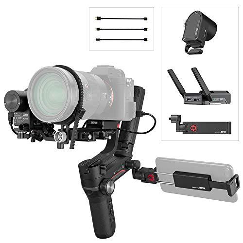 Zhiyun Weebill S Pacchetto Image Transmission,3 Assi Gimbal Stabilizzatore per Mirrorless e DSLR Camera,Sony A6500,Nikon Z6 Z7,Panasonic GH5s,Carico utile 3 kg,Clip per Phone e Servo di Messa a Fuoco