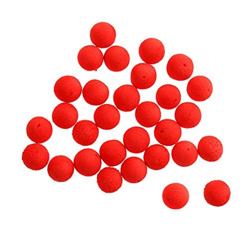 Milageto 30PCS / Pack 12mm Bola Flotante Suave de Agua de Cuentas de Pesca Coloridas - Rojo