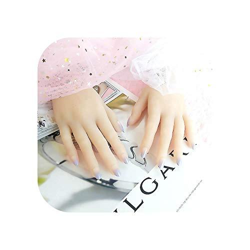 Nail Factory Distributeur 24 pcs Nude Violet Dégradé Couleur Faux Ongles avec De La Colle Plein Ongles Conseils artificiels ongles Faux Ongles-As show-