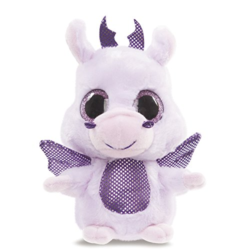 Aurora World 60335 - Yoohoo and Friends draak pluche dier, 5 inch, paars