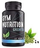 GYM-NUTRITION — GREEN-TEA Grüntee-Extrakt – Hochdosiert, vegan – Grüner Tee, beliebt in Definitions-Phase & Diät – 2 Monats-Vorrat – 120 Grüntee-Kapseln – Made in Germany