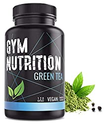 GYM-NUTRITION® - GREEN-TEA green tea extract - high dose, vegan - green tea - laboratory tested - 2 months supply - 120 green tea capsules - Made in Germany
