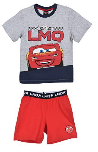 Sun City Cars Lightning McQueen Pyjama kurz mit Klappmund grau rot Gr. 116