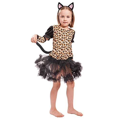 SHANGLY Halloween Kostüme Jaguar Süßes Tier Cosplay Weihnachtsfest Karneval Kinder Kind Kostüm,L