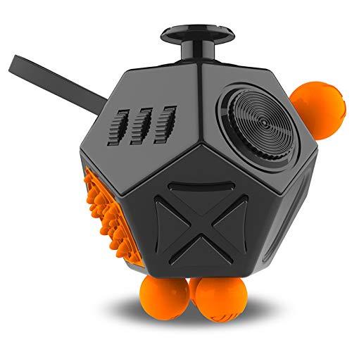N\ A Descompresión Cubo De Rubik De 12 Caras Dados Nuevos Dados De Juguete Creativos. 7cm * 6cm * 7.5cm/Negro.