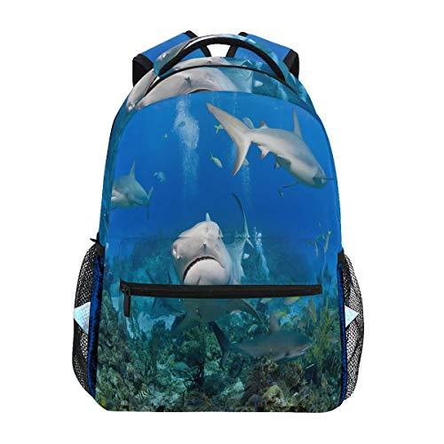 Mnsruu Tiger Shark Reef Fish Ocean - Mochila de Viaje