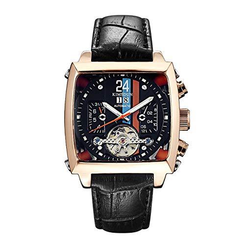 Armbanduhren,Automatische Mechanische Modeuhr Monaco 24 Square Tourbillon Sportuhr, A