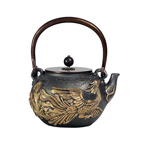 BYZHP Tetera Teapot Tetera de Hierro Fundido 1.2L Hecho a Ma